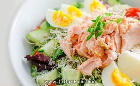 地中海風鮭魚沙拉,清爽提振換季食慾好美味!