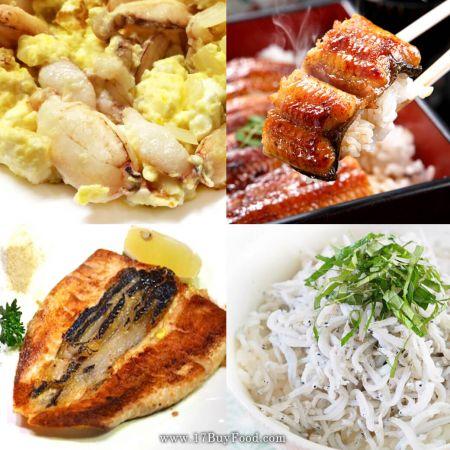 【買4送1】當季現撈:虱目魚肚、魩仔魚、蟹管肉、蒲燒鰻,限量各30組