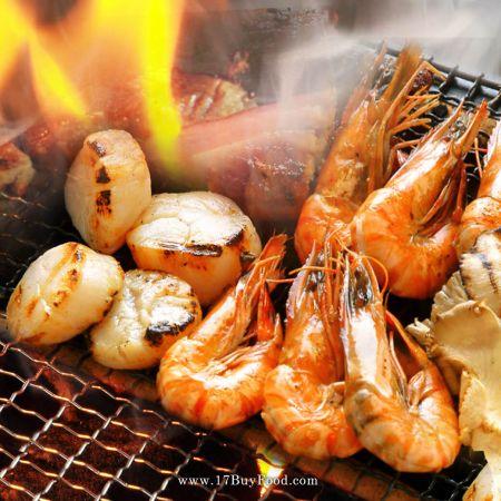 【中秋新品】懶人海鮮烤物組,魚肥蝦美,買就送現撈現做手工花枝丸
